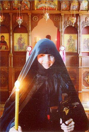 Монахиня Феоклития после пострига в великую схиму