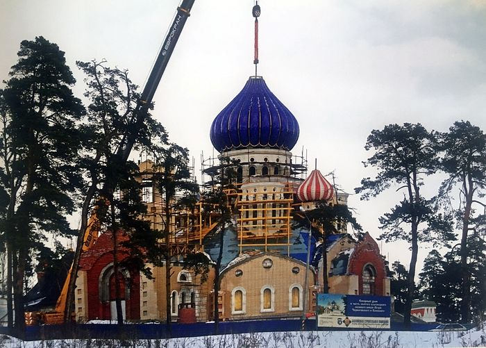 Строительство храма святого благоверного князя Игоря Черниговского в Переделкине