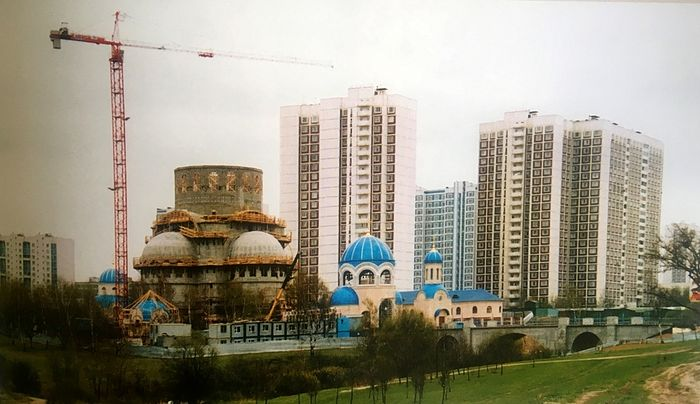 Строительство храма Троицы Живоначальной в Орехово-Борисово в память 1000-летия Крещения Руси