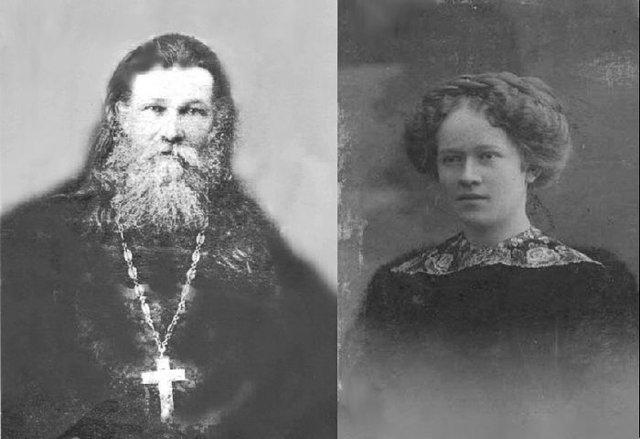 Archpriest Nikolai Chernishev and his daughter Barbara
