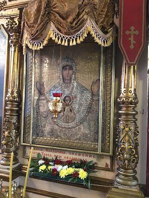 Икона Знамения Пресвятой Богородицы, XIX век