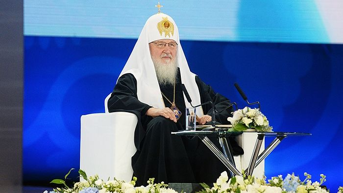 Патриарх Кирилл на Международном православном молодежном форуме. Фото: www.patriarchia.ru