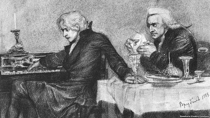 Моцарт и Сальери. Рисунок 1884