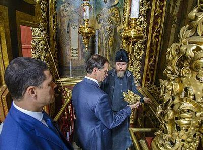 Митрополит Псковский Тихон провел рабочую встречу по вопросам сохранения Псково-Печерской обители
