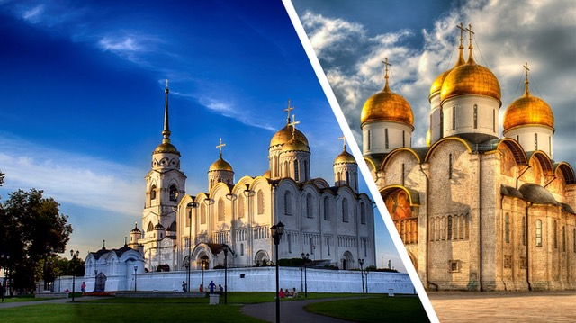 The Vladimir Dormition Cathedral and the Moscow Kremlin Dormition Cathedral. A comparison,