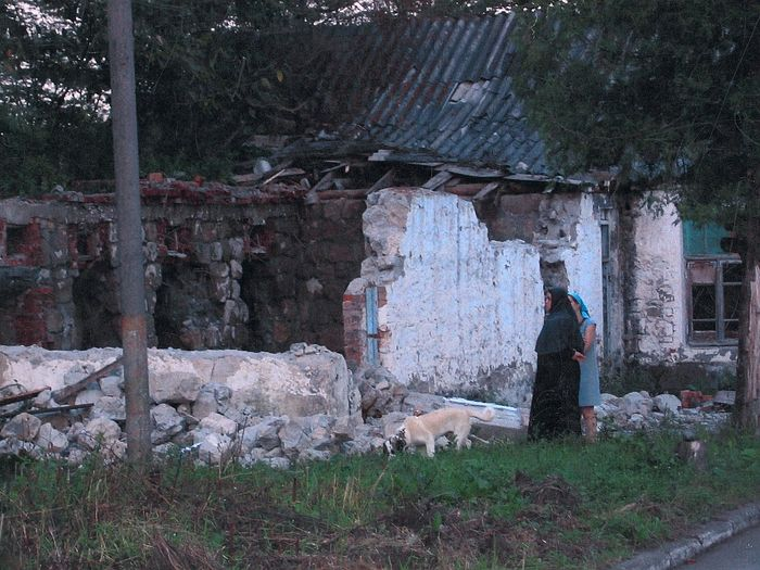 Развалины на месте дома для паломников
