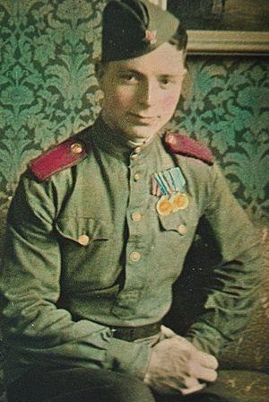 Минометчик Михаил Бойко. 1944 г.