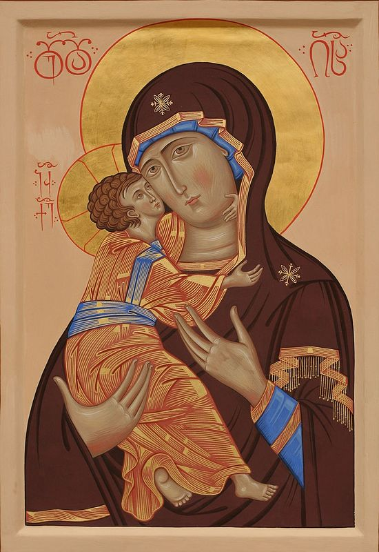 The Vladimir icon of the Holy Theotokos.