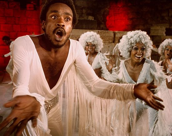 "Judas in the 1973 film of the rock opera, ""Jesus Christ Superstar""."