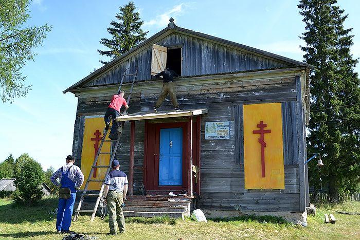 Аварийные работы на храме