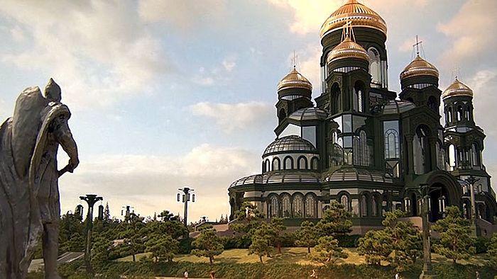 Проект Главного храма ВС России. Скриншот с сайта МО РФ