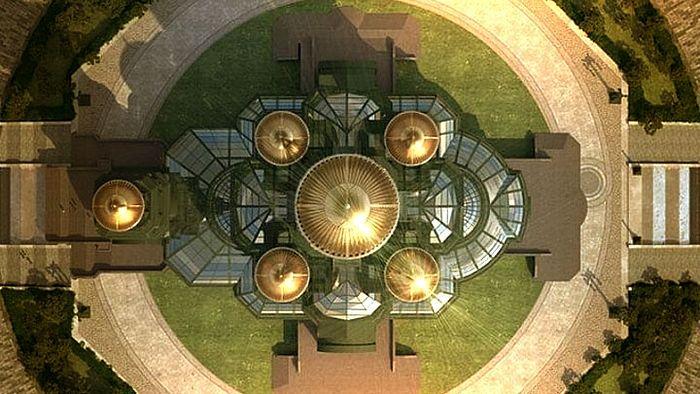 Пројекат Главног храма ОС Русије. Скриншот са сајта МО РФ