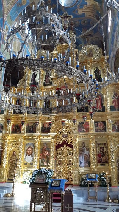 Iconostasis and Chandelier (Horos) of the Upper Church