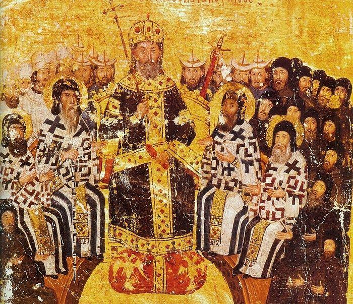 Emperor John VI Kantakouzenos (r. 1347–1354), Apokaukos's patron and victim of his protégé's ambition. Photo: wikipedia.org