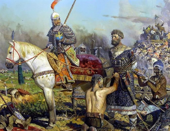 Battle on the River Kalka. Artist: Pavel Ryzhenki. Photo: monarchism.info