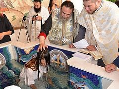 Twelve Philippine women baptized in Cyprus