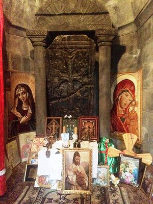 Место упокоения мощей св. Маманта в часовне мученика
