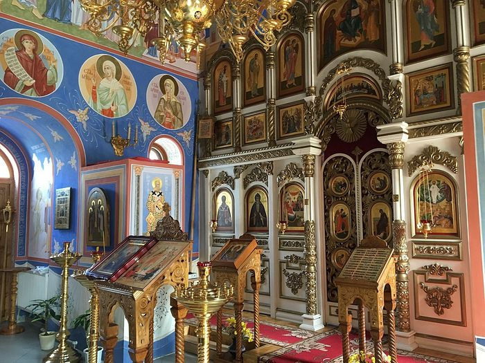 Inside the Church of the Nativity of the Holy Theotokos in Khotkovo