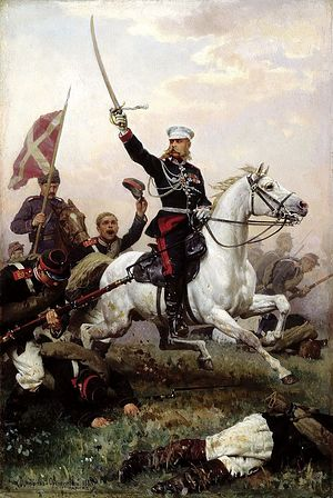 General Mikhail Dmitrievich Skobelev on Horseback by Nikolai Dmitriev-Orenburgsky, 1883