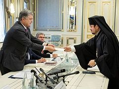"""We are on an """"extraordinary mission"""" Constantinople exarchs tell Poroshenko"""