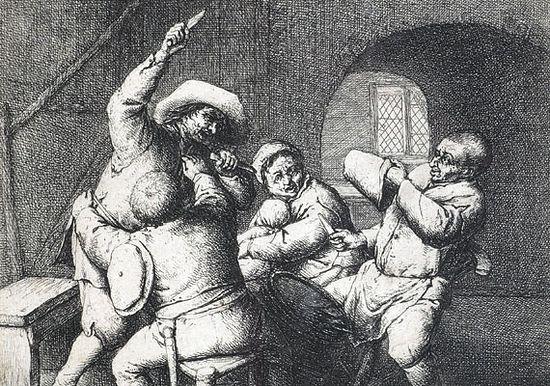 Адриан ван Остаде, «Ссора» (1653). Изображение с сайта christies.com