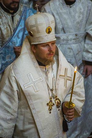 Епископ Елгавский Иоанн на отпевании