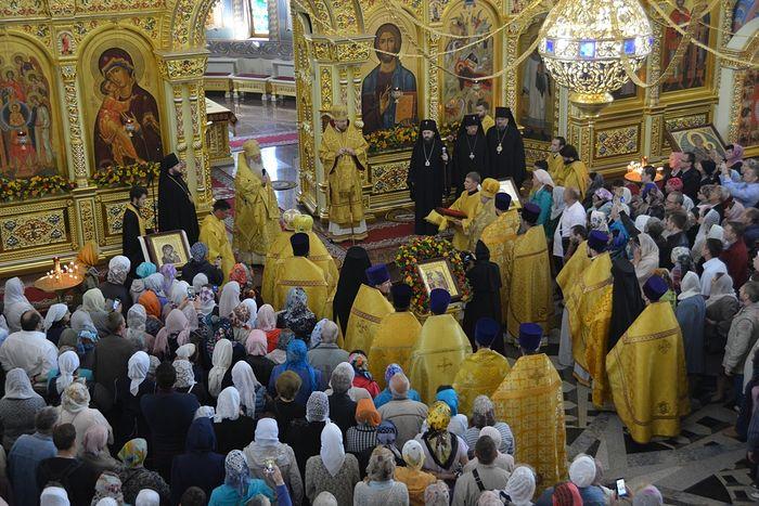 Божественная литургия 16 сентября 2018 г. Фото: А. Поспелов / Православие.Ru