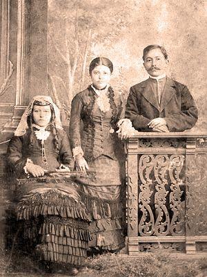 Мой прадед Захар Матвеевич с супругой и тещей