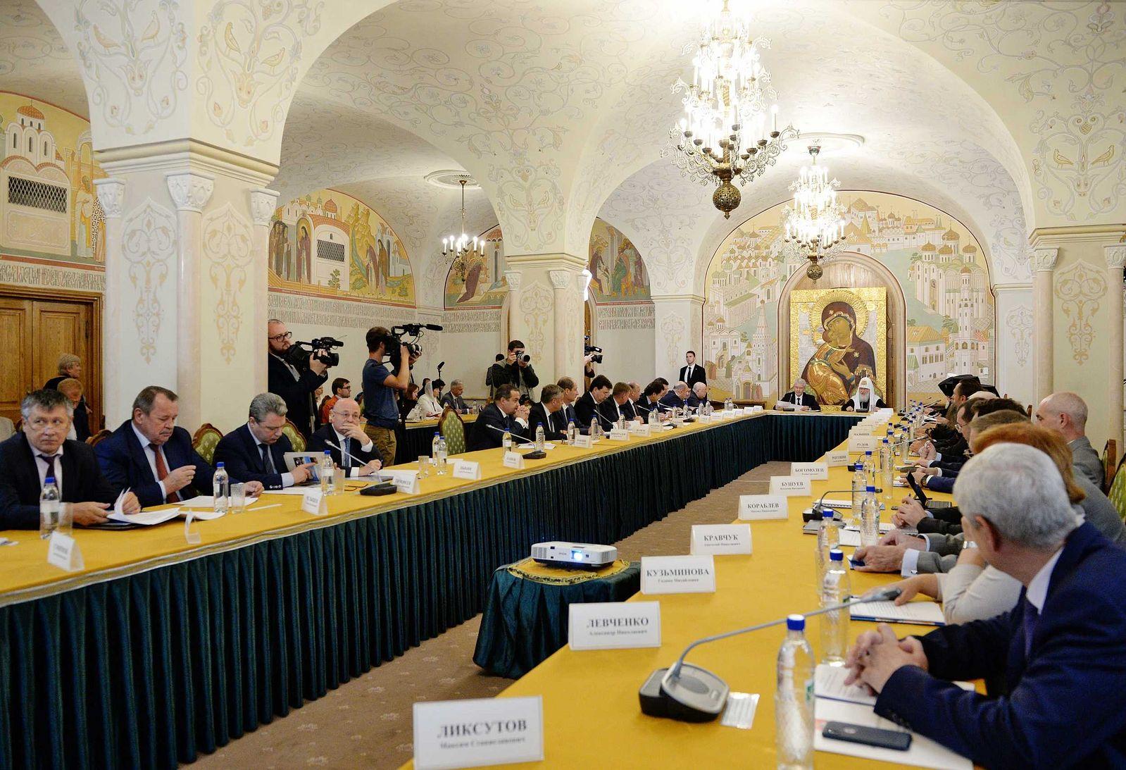 Патриарх Кирилл возглавил заседание Попечительского совета Фонда поддержки строительства храмов г. Москвы