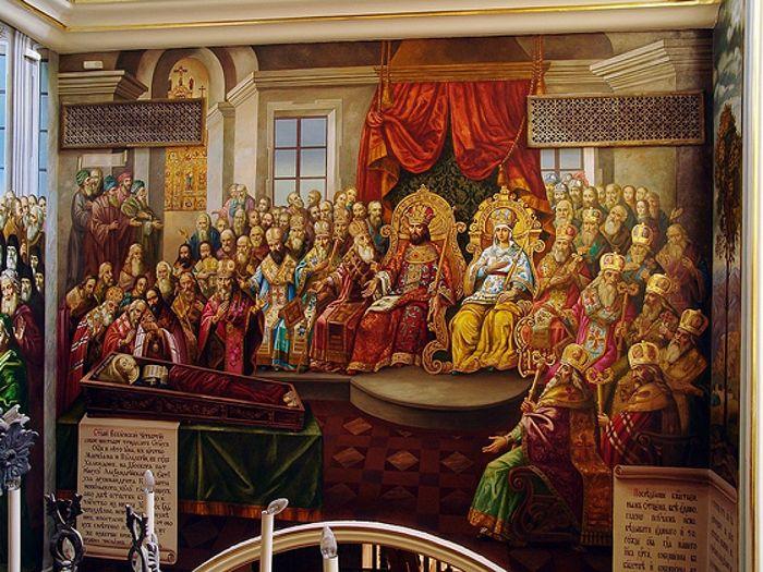 Четвертый Вселенский Собор (роспись Успенского собора Киево-Печерской лавры)