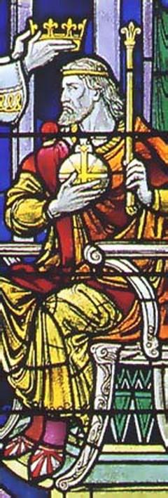 Витраж с изображением блгв. короля Эдгара Миролюбивого