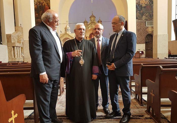 Сергей Гаврилов и Архиепископ Тегеранских армян С.Саркисян