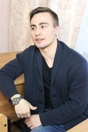 Активист молодежного отдела Егор