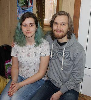 Активисты молодежного отдела, супруги Катя и Виктор