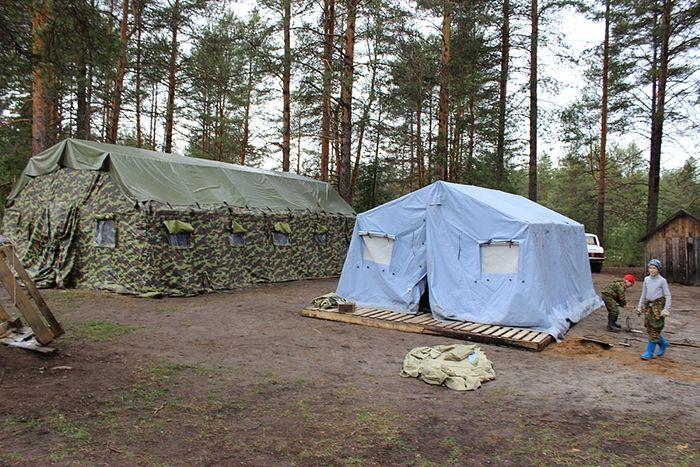 Место проведения военно-полевых сборов «Ратники Святой Руси» в поселке Нювчим