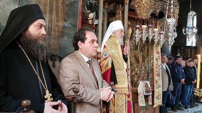 Игуман Методије, Константинос Димча, гувернер Свете Горе и Патријарх српски Иринеј