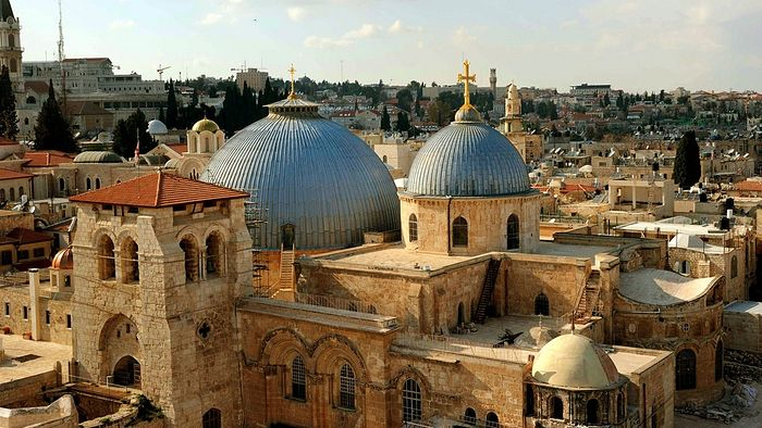 A view of the Church of the Holy Sepulcher in Jerusalem