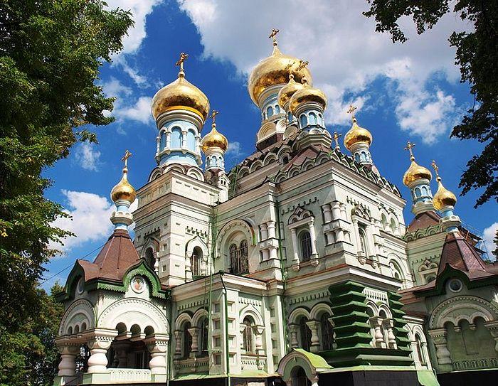 Никольский собор Покровского монастыря (г. Киев), где более 30 лет служил и проповедовал отец Михаил Бойко