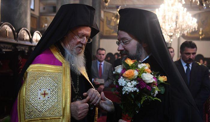 Константинопольский Патриарх Варфоломей и епископ Тельмесский Иов (Геча)