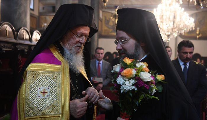 His All-Holiness Patriarch Bartholomew of Constantinople and His Eminence Archbishop Job (Getcha) of Telmessos