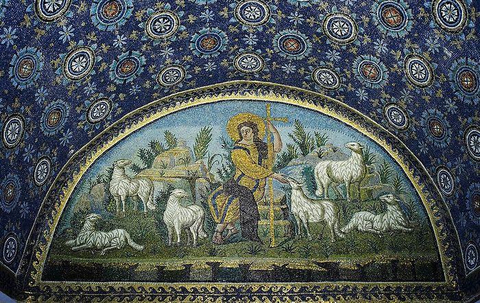 Mosaic in the Mausoleum of Galla Placidia, Ravenna, Italy, ca. 425. Photo: en.wikipedia.o
