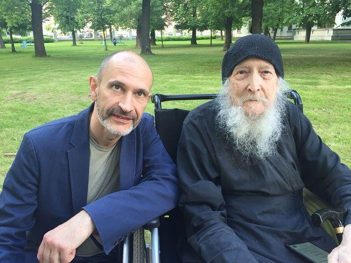 С иеросхимонахом Валентином (Гуревичем) Алексей Тарасов