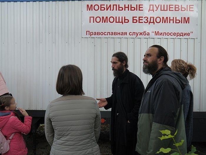 Участники стажировки посетили проекты православной службы помощи «Милосердие»