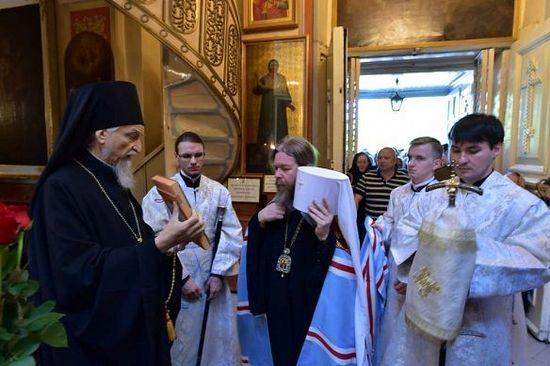 Встреча в Псково-Печерском монастыре митрополита Тихона (Шевкунова)