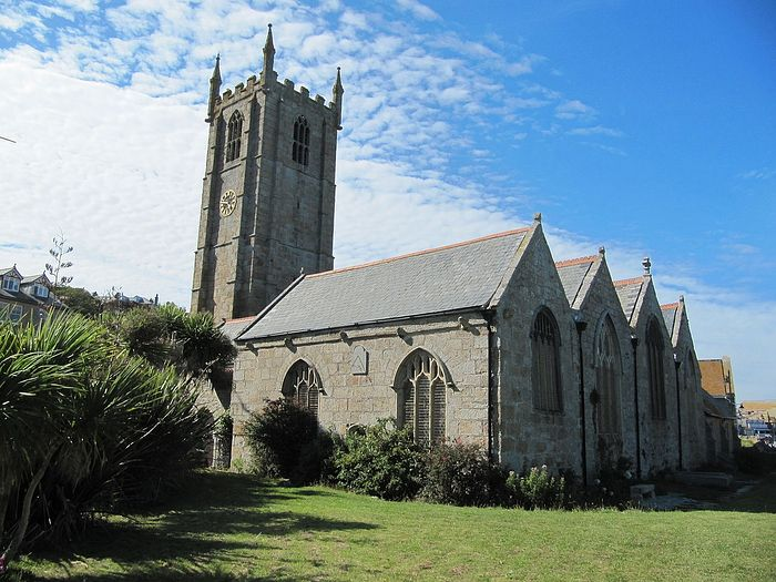 The Church of Sts. Ia, Peter and Andrew in St. Ives, Cornwall