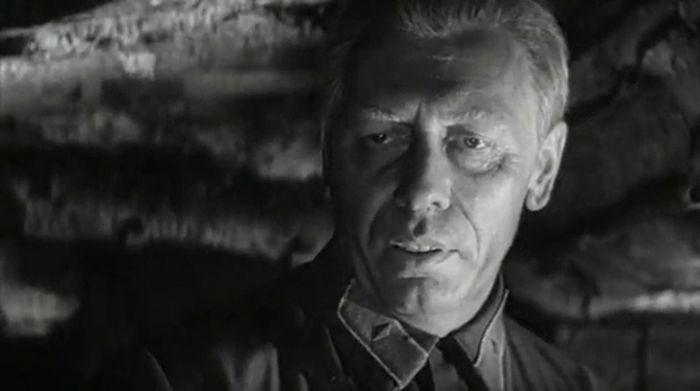 Кирилл Юрьевич Лавров в роли Ивана Синцова в фильме «Живые и мёртвые», 1964 г.