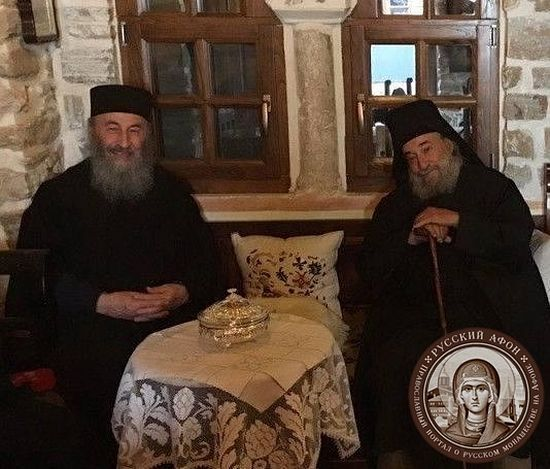 Abbot Gregory with His Beatitude Metropolitan Onuphry of Kiev and All Ukraine. afonit.info