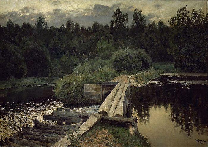 Исаак Левитан. У омута. 1892