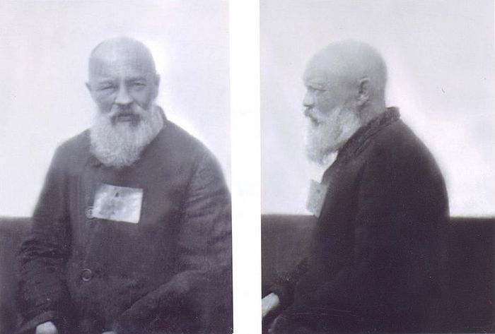 Фото из уголовного дела № 5250: священник Димитрий Орехов (через 9 месяцев после ареста). 20 октября 1938 г., Рязанская следственная тюрьма № 1