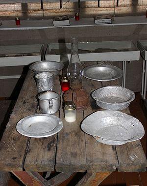 Посуда заключенных Абезьского лагеря